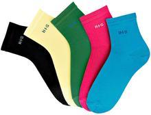 Bonprix Krótkie skarpetki H.I.S (5 par) zielony + różowy + turkusowy + jasnożółty + czarny