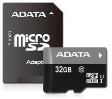 A-Data MicroSD Class 10 + Adapter 32GB