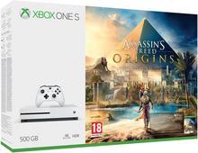 Microsoft Xbox One S 500GB Biały + Assassin's Creed: Origins + 6M Live Gold
