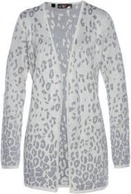 Bonprix Sweter bez zapięcia matowy srebrny - dymny szary - srebrny