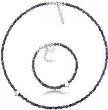 Komplet biżuterii z gwiazdką, z kwarców SREBRO