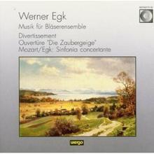 """Blaser Ensemble Mainz; K.R. Scholl Egk Divertissement fur 11 Blaser Overture zur Oper \""""Die Zaubergeige"""" Mozart Egk Sinfonia Concertante"""