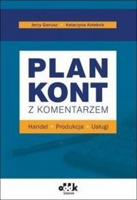 ODDK -  Ośrodek Doradztwa i Doskonalenia Kadr Plan kont z komentarzem  handel, produkcja, usługi