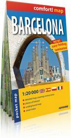 ExpressMap praca zbiorowa comfort! map Barcelona. Kieszonkowy, laminowany plan miasta 1:20 000