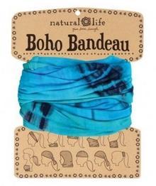 Natural Life Boho bandeau Bandana unisex, niebieski, rozmiar M BBW053