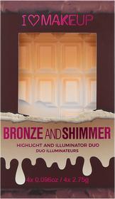 Revolution Makeup Makeup REVOLUTION I HEART MAKEUP Bronze&Shimmer Bronzer i rozświetlacz 0000059483