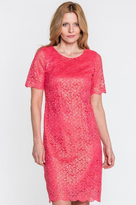 L'ame de Femme Koralowa sukienka z koronki - L'ame de Femme