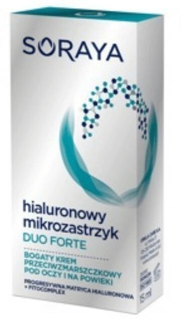 Soraya Hialuronowy Mikrozastrzyk Duo Forte 15 ml Bogaty krem przeciwzmarszczkowy pod oczy DARMOWA DOSTAWA DO KIOSKU RUCHU OD 24,99ZŁ