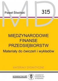 Śliwiński Paweł Międzynarodowe finanse przedsiębiorstw