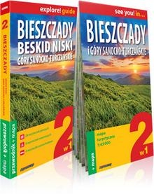 ExpressMap praca zbiorwa explore! guide Bieszczady, Beskid Niski, Góry Sanocko-Turczańskie 2w1. Przewodnik + mapa