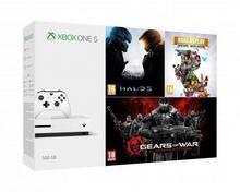 Microsoft Microsoft Xbox One S 500GB + Rare Replay Halo 5 Guardians + Gears of War Ultimate Edition biały