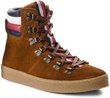7bcf554a5d4e8 -27% Tommy Hilfiger Kozaki Crepe Outsole Hiking Hybrid Boot FM0FM01918  Cognac 606
