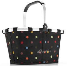 Reisenthel Carrybag Dots koszyk na zakupy BK 7009 czarny