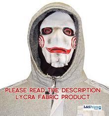 L&S PRINTS FOAM DESIGNS Halloween miecz Face Novelty Fun materiału Face maska wzornictwo snood maska na twarz wyprodukowane w Yorkshire
