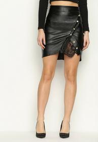 Renee Czarna Spódnica Lace Cut