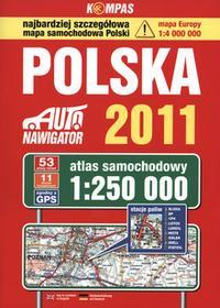 Polska Auto nawigator 2011 Atlas samochodowy w skali 1:250 000