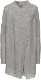 Bonprix Sweter bez zapięcia jasnoszary melanż