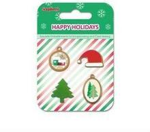 Zestaw zawieszek i ćwieków Happy Holidays 4 szt.