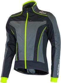 Rogelli TRANI 3.0 zimowa kurtka rowerowa czarny-fluor