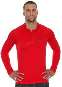 Brubeck T-shirt męska polo długi rękaw Prestige (czerwony) LS10620-prestige