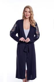 65ccd631b8805c Luisa Moretti Koszula nocna damska TAMARA ze szlafrokiem XL Jagodowy ...