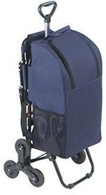 Wenko 84601500 wózek na zakupy z siedziskiem, system z 3 kółkami do pokonywania schodów, pojemność 35 l, wykonany z aluminium, wymiary: 36,5 x 103 x 65 cm, kolor srebrny matowy 84601500