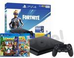 Sony PlayStation 4 Slim 500GB Czarny Fortnite Neo Versa Bundle + Crash Bandicoot N Sane Trilogy + Team Racing Nitro-Fueled