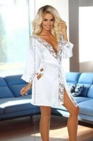 Beauty Night Luksusowy Szlafrok Ambrosia White   100% DYSKRECJI   BEZPIECZNE ZAKUPY
