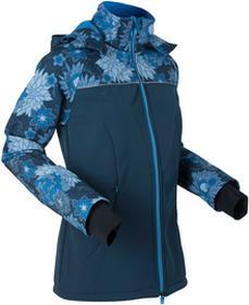 Bonprix Długa kurtka softshell ciemnoniebieski