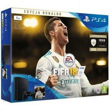 Sony PlayStation 4 Slim 1TB Czarny + FIFA18 Ronaldo Edition