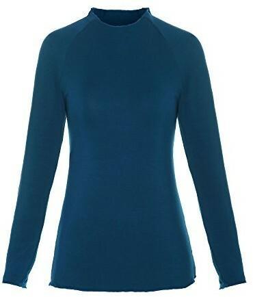 89f4f04464a2 ReliBeauty relib eauty damski Basic tunika koszulka z długim rękawem Raglan  ze rękawy Mock Neck góra