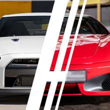 Prezenty.pl Ferrari F430 vs. Nissan GTR - Tor Bednary
