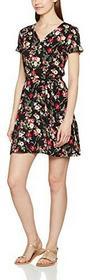 Intimuse Kwiaty intimuse letnia sukienka z dekoltem w szpic, damski sukienka z krótkimi rękawami i knielang -  A-linie 48 B01MUOWKY6