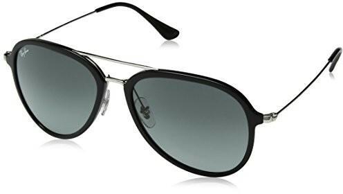 Ray Ban Okulary przeciwsłoneczne RB 4298 Black Grey tekst cieniowany unisex  0RB4298601 7157 cf887c645e53