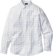 Bonprix Koszula w kratę Regular Fit biało-dymny szary w kratę
