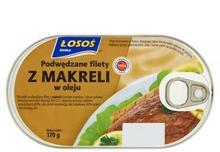 Łosoś Podwędzane filety z makreli w oleju 170 g Ustka
