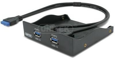 UNITEK Unitek Y-3901 PANEL 3.5 PORTY 2x USB3.0 PODPINANY BEZPOŚRENIO DO PŁYTY GŁÓWNEJ AMUNIGU00000001