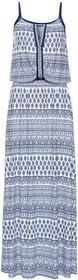 Bonprix Must-have: długa sukienka wzorzysta niebieski wzorzysty