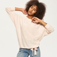 RESERVED Sweter z wiązaniem na dole - Różowy