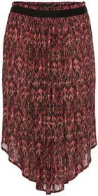Bonprix Szeroka spódniczka midi kolorowy wzorzysty