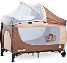 Caretero IKS 2 łóżeczko łóżeczka turystyczne Grande Brown