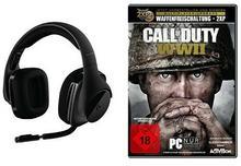 Logitech g533Gaming-Headset (bezprzewodowy DTS 7.1Surround-Sound) czarna + Call of Duty: WWIIStandard Edition[PC]