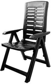 Wygodne krzesło składane krzesło ogrodowe z klapką fotel składany 5pozycje balkon meble meble meble ogrodowe do mebli tarasowych Camping tworzywo sztuczneantracyt