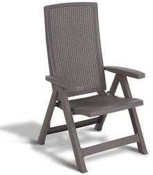 Allibert Rozkładane krzesło ogrodowe Montreal, kolor cappuccino