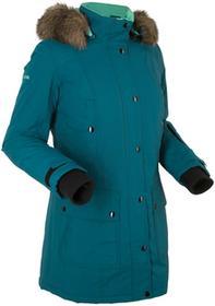Bonprix Długa kurtka outdoorowa niebieskozielony morski