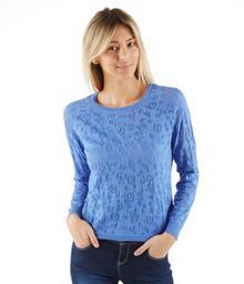 Camaeu Damski sweter z dzianiny devore 491616_9846