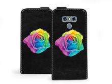 Etuo.pl etuo Flip Fantastic - LG G6 - etui na telefon Flip Fantastic - kolorowa róża ETLG495FLFCFF018000