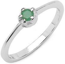 Srebrny pierścionek z naturalnym szmaragdem 0,10 ct 1771-uniw