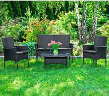 Zestaw mebli z technorattanu JAMAICA - stół + sofa + 2 krzesła