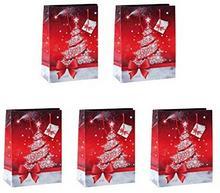 Sigel GT023małe papierowych torebek na prezenty 23x 17cm, zestaw  szt., na święta Bożego Narodzenia